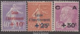 2ème Série Caisse D'Amortissement Neuve * TB (Y&T N° 249 à 251 , Cote 107€) - Caisse D'Amortissement