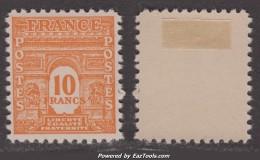 10Fr Arc De Triomphe Neuf * TB (Y&T N° 629, Cote 21.50€) - Nuovi