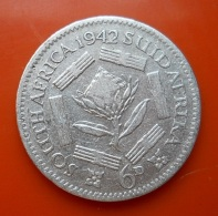 South Africa 6 Pence 1942 Silver - Afrique Du Sud