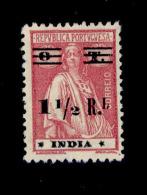 ! ! Portuguese India - 1931 Ceres W/OVP 1/2 R (Stars III-IV) - Af. 325 - MH - Portuguese India