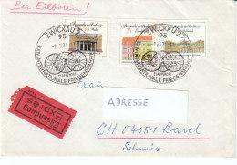 """DDR 1971  MiNr. 1663, 1664, 1665 Berliner Bauten Mit Sonderstempel """"Friedensfahrt""""  Auf Sammler Brief In Die Schweiz - Cycling"""