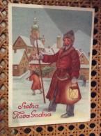 AK  NEW YEAR  SANTA CLAUS - Neujahr