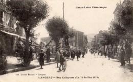 LANGEAC RUE LAFAYETTE (LE 14 JUILLET 1919 ) - Langeac