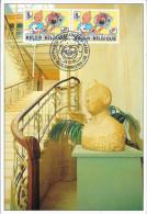 BELGIQUE 1939 FDC Carte Du CBBD : Buste De Tintin Kuifje HERGE Au CBBD Strip Comics Bédé - Fumetti