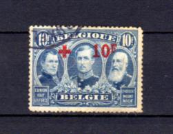 1918 Belgique Croix-Rouge, 163 Ø, Cote 930 €,  Red Cross - 1918 Red Cross