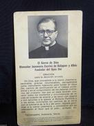 Estampa Religiosa De Monseñor Josemaria Escriva De Balaguer Fundador Opus Dei - Religion & Esotericism