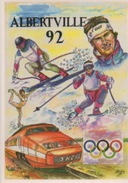 Editions Des  Escargophiles - Illustrateur MEDERIC - Sports Olympiques D'hiver - Collection 1992 N°6 - Cartes Postales