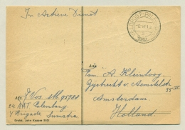 Nederlands Indië - 1947 - Veldpost Palembang Op Kaart John Kappee Naar Amsterdam / Nederland - Netherlands Indies