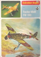 """Maquette Avion """" Focke-Wulf FW 190 """"- Marque SCHREIBER-BOGEN ( JFS ) - Carton / Lasercut"""