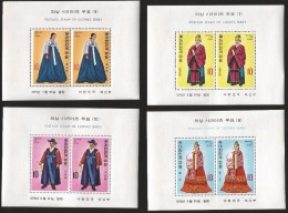 B)1973 KOREA,  QUEEN, KING, PRINCE, QUEENS CEREMONIAL DRESS, TRADITIONAL KOREAN  COSTUMES, CLOTHES SERIES, SC 863 A455, - Korea (...-1945)