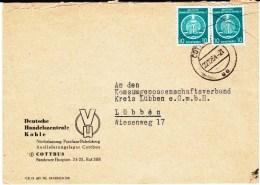 DDR Dienst A Mi 4 (2) MeF Bes Entwertung Bf Cottbus 1954 - Service