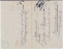 Marine Schiffspost MSP 178 Vorpostenboot S138 Faltbf 1917 - Briefe U. Dokumente