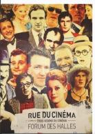 Paris I FORUM DES HALLES - Fresque Rue Du Cinéma - Deneuve Truffaut Depardieu Dujardin - CPM 2016 - Schauspieler