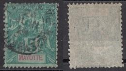 4 Mayote 1892-1907 Navigazione E Commercio Viaggiato Used Mayotte