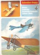 Maquette Avion BLERIOT-EINDECKER, Antoinette-Eindecker Lathan ( 1909 ) - Paper Models / Lasercut