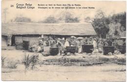 CONGO BELGE - Huilerie Au Bord Du Fleuve Dans L'Ile De Mateba - Congo Belge - Autres
