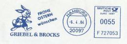 1994 Hamburg GERMANY COVER METER Stamps SLOGAN Illus RABBIT , HAPPY EASTER - Easter