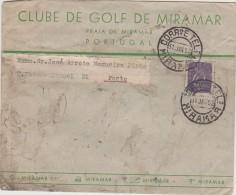 Cover - 1952 - Miramar »» Porto - Clube De Golf De Miramar - Praia De Miramar - Lettres & Documents