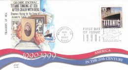 Sc#3191l, Titanic Movie Film, 1990s 'Celebrate The Century' Series, First Day Of Issue Cover - First Day Covers (FDCs)