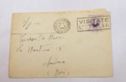 ITALIA REGNO 1938 - MARCONI  50 CENT SU BUSTA  DA MILANO A ANDRIA - 1900-44 Vittorio Emanuele III