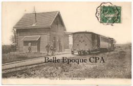 60 - Gare De FRESNOY-MORANGLES +++++ Sans éditeur ++++ 1907 ++++ TRAIN - France