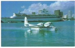 Miami - CHALK´ S International Airline - Seaplane Cruise Ship Hydravion - USA ( 9cms X 14cms ) - Miami Beach