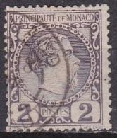 Monaco 1885 Roi Charles I 2 C Lila Y&T 2 Obliteré - Monaco