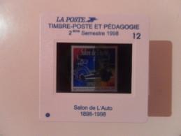 DIAPOSITIVE LA POSTE 12 - 2ème Semestre 1998 : SALON DE L'AUTO NOUVEAUTE RARE - Diapositivas