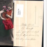 526177,Foto-AK Frau Art Deco Mode Rock Blumen Schuhe Pub AMAG 64006-6 - Mode