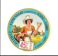J. VALETTE Camembert Fabriqué En Maine Et Loire - St Clément Des Levées - Cheese