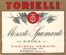 """06306 """"TORIELLI - MOSCATO SPUMANTE - EXTRA - TORIELLI ORESTE PRODUTTORE VINI - STREVI - PIEMONTE"""" ETICH. ORIG. - Etichette"""