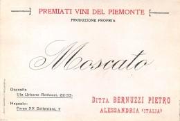 """06307 """"MOSCATO  - DITTA BERNUZZI PIETRO - ALESSANDRIA (ITALIA)"""" ETICH. ORIG. - Etichette"""