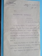 RECHTSANWALT Dr. W. ROSENTHAL Fernsprecher Dresden / Mathilde Callewaert GENT Anno 1912 ( Details See Photo ) !! - Wetten & Decreten
