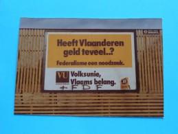 Foto´s Van Affiches POLITIEK ( Volksunie / Vlaams Belang - 2 Stuks ) Anno 1978 Antwerpen ( Details See Photo ) !! - Affiches
