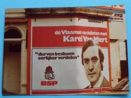 Foto´s Van Affiches POLITIEK ( BSP Karel Van Miert ............ ) Anno 1978 Antwerpen ( Details See Photo ) !! - Affiches