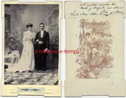 ARGENTINE-riche Mariage-joli Couple-lire Au Dos-par Pedro A. Sabaris-Cordoba-13,3 X 21,2cm - Photographs