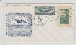 San Francisco To Noumea 1940 - Inaugural Flight 1er Vol Erstflug - Auckland NZ Caledonie Honolulu Hawai Canton - Luftpost