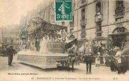 BORDEAUX FETE DES VENDANGES LE CHAR DU COGNAC EDITION DELBOY - Bordeaux