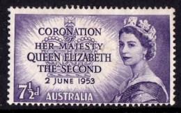 Australia 1953 Coronation 7.5d MH - 1952-65 Elizabeth II : Pre-Decimals