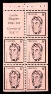 Australia 1970 Famous Australians - Macquarie Booklet Pane MNH - 1966-79 Elizabeth II