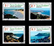 New Zealand 1977 Seacapes Set Of 4 Used - New Zealand