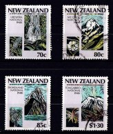 New Zealand 1987 National Parks Set Of 4 Used - Used Stamps
