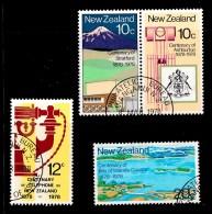 New Zealand 1978 Anniversaries Set Of 4 Used - New Zealand