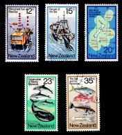 New Zealand 1978 Sea Resources Set Of 5 Used - New Zealand