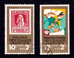 New Zealand 1978 Health Set Of 2 Used - New Zealand