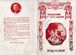 16 / 9 / 101  -   PROGRAMME Pte  SAINT  MARTIN  -  MADAME  SANS-GÊNE - Programmes