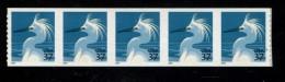 USA 2004  POSTFRIS MINT NEVER HINGED POSTFRISCH EINWANDFREI SCOTT  3829a Snowy Egret Bird Vogel Strip Van 5 - Vereinigte Staaten