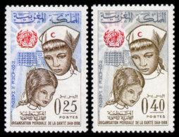 Maroc, Morocco, 1968, World Health Organization, WHO, OMS, 20th Anniversary, United Nations, MNH, Michel 618-619 - Marruecos (1956-...)