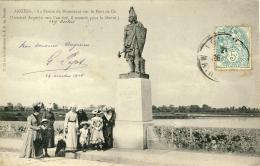 CPA - ANGERS - STATUE DE DUMNACUS SUR LE PONT DE CÉ - Angers
