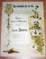 Esquisses Musicales Pour Piano Par  Binetti Partition Musicale - Grand Format - Superbe Illustration Marguerite - Partitions Musicales Anciennes